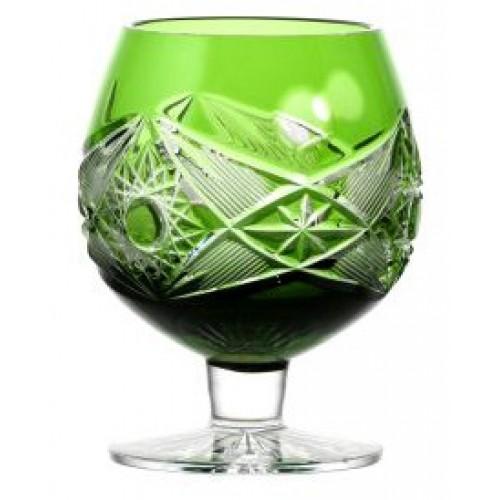 Crystal glass Brandy Nordika, color green, volume 230 ml