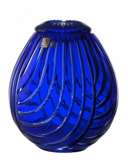Crystal Urn Linum, color blue, height 230 mm