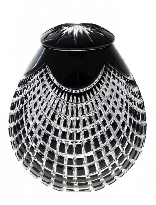 Crystal Urn Quadrus, color black, height 230 mm