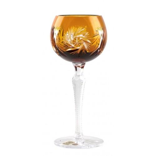 Crystal Wine Glass Pinwheel, color amber, volume 190 ml