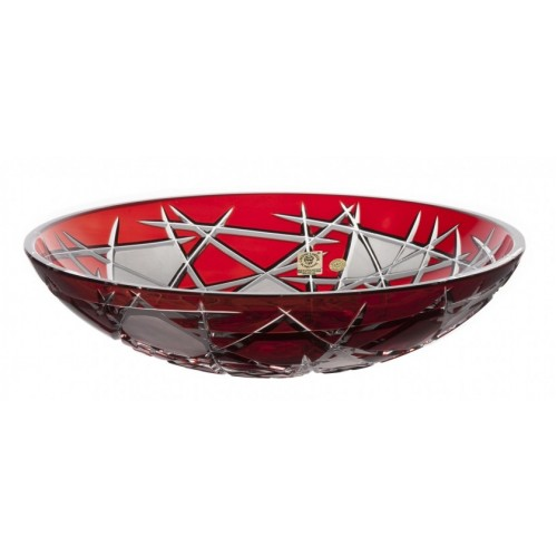 Crystal Bowl Mars, color ruby, diameter 280 mm