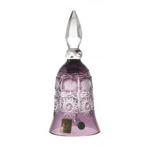 Crystal Bell Paula, color violet, height 155 mm