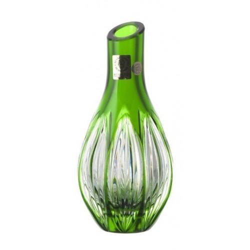 Crystal Vase Ribwort, color green, height 150 mm