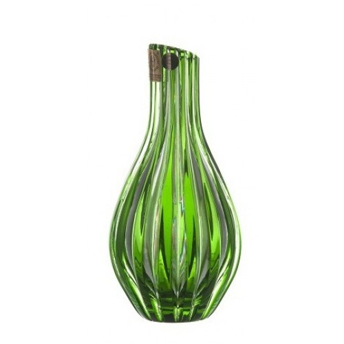 Crystal Vase Sly, color green, height 150 mm