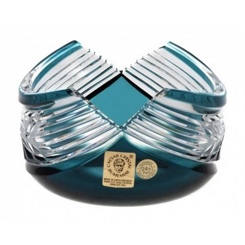 Crystal Bowl Laurel, color azure, diameter 100 mm