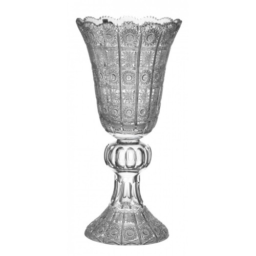 Crystal Vase 500PK, color clear crystal, height 430 mm