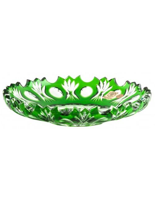 Crystal plate Dandelion, color green, diameter 180 mm