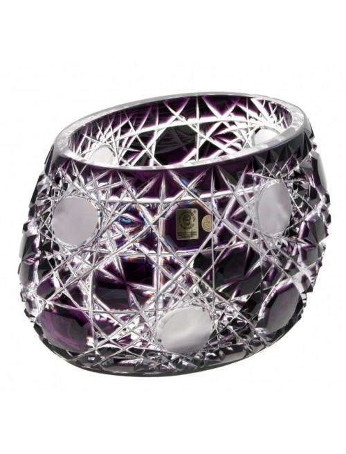 Crystal Bowl Flake, color violet, diameter 255 mm