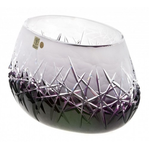 Crystal Bowl Hoarfrost, color violet, diameter 255 mm