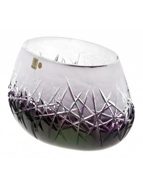 Crystal Bowl Hoarfrost, color violet, diameter 255 mm