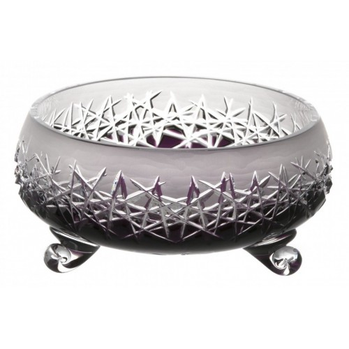 Crystal Bowl Hoarfrost II, color violet, diameter 205 mm