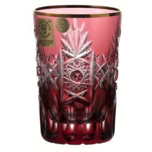 Crystal glass, color ruby, volume 100 ml
