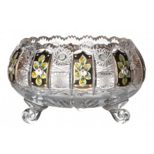 Crystal Bowl 500K gold II, color clear crystal, diameter 205 mm