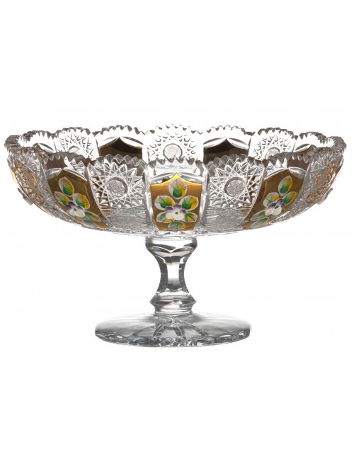 Crystal Footed Bowl 500K gold, color clear crystal, diameter 205 mm