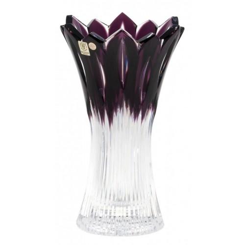 Crystal Vase Flame, color violet, height 255 mm