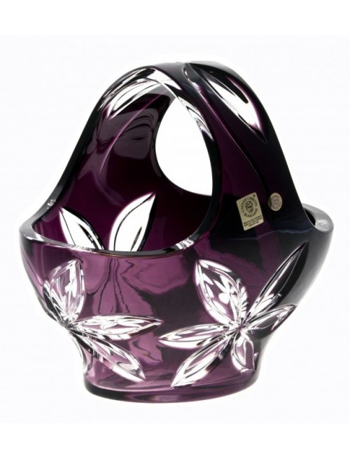 Crystal Basket Linda, color violet, diameter 200 mm