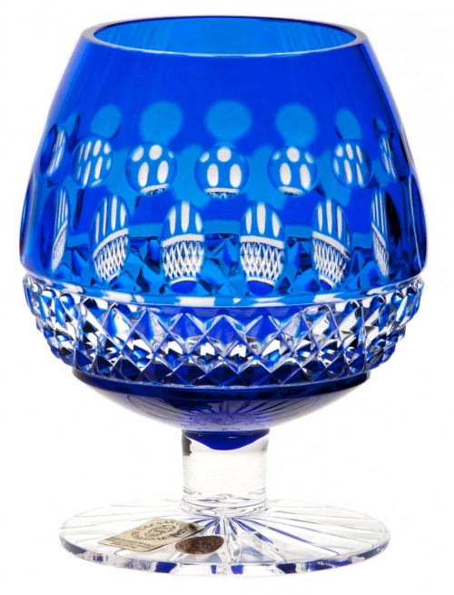 Crystal Glass Brandy Tomy, color blue, volume 230 ml