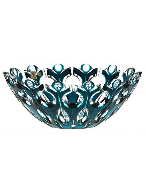 Crystal Bowl Flamenco, color azure, diameter 280 mm