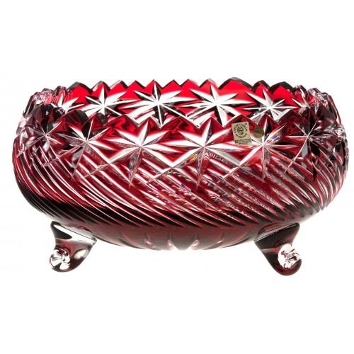 Crystal bowl Sky, color ruby, diameter 280 mm