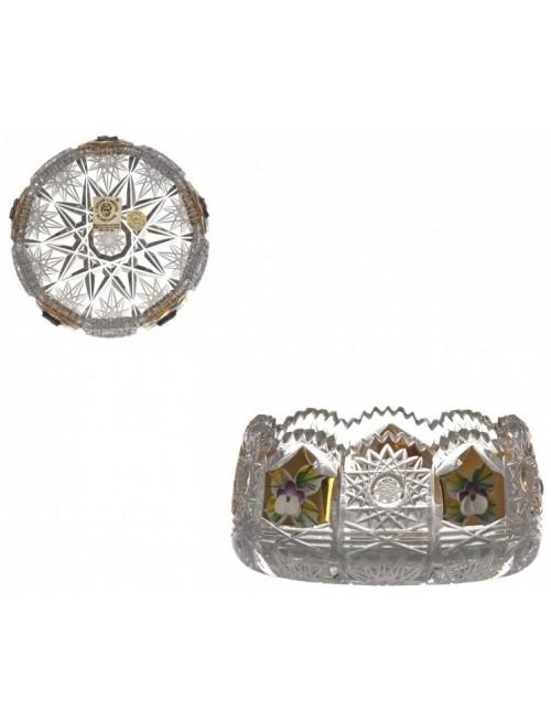 Crystal Bowl 500K gold, color clear crystal, diameter 102 mm