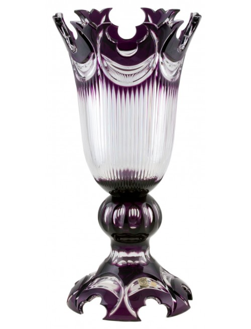 Crystal Vase Diadem, color violet, height 430 mm
