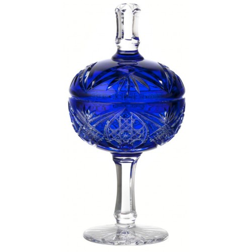 Crystal cup Beata, color blue, height 315 mm
