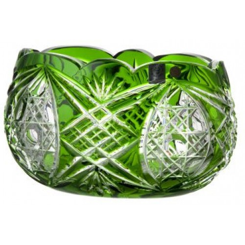 Crystal bowl Beata, color green, diameter 205 mm