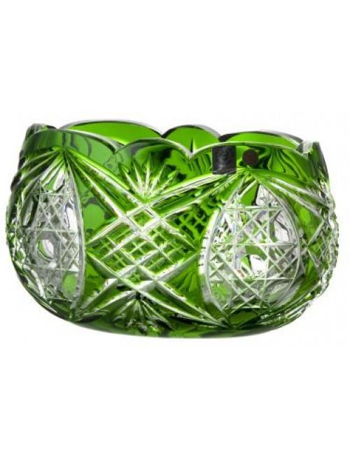 Crystal bowl Beata, color green, diameter 205 mm
