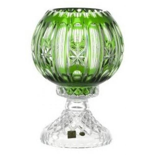 Crystal Lamp Malaga, color green, height 225 mm