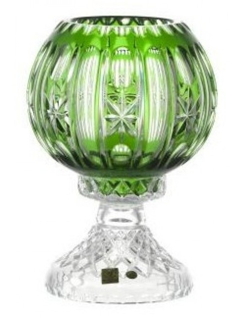 Crystal Lamp Malaga, color green, height 225 mm