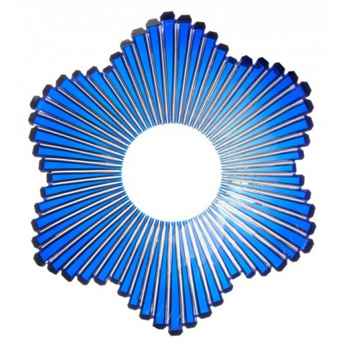 Crystal Bowl Mikado, color blue, diameter 335 mm