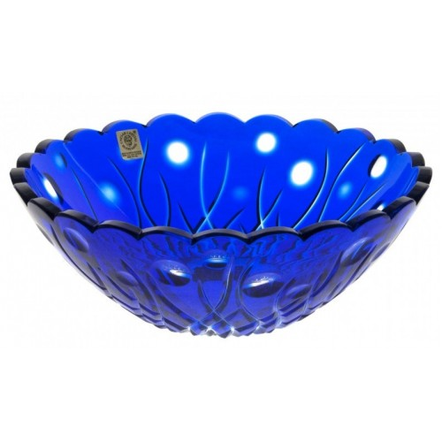 Crystal Bowl Heyday, color blue, diameter 230 mm