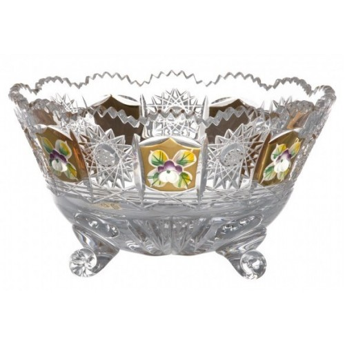 Crystal Bowl 500K gold II, color clear crystal, diameter 155 mm