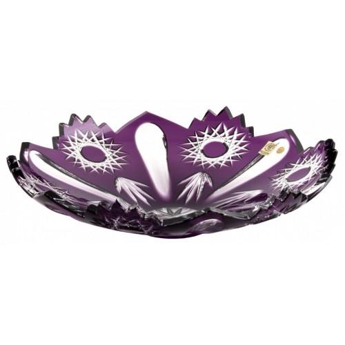 Crystal Bowl Sweet, color violet, diameter 340 mm