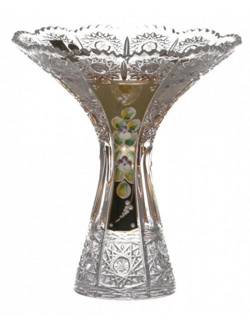 Crystal Vase 500K gold IV, color clear crystal, height 205 mm