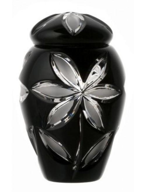 Crystal urn Linda, color black, height 120 mm