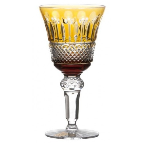 Crystal Wine Glass Tomy, color amber, volume 180 ml