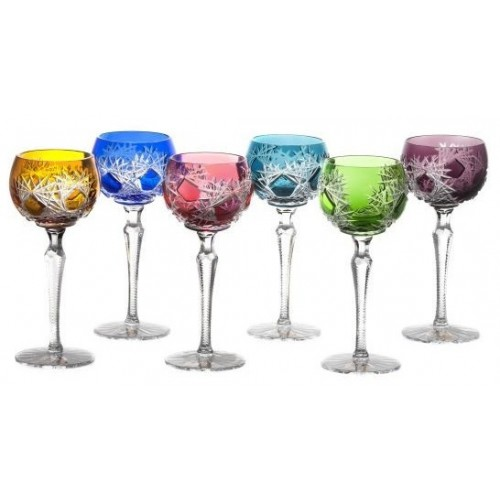 Crystal Set Wine Glass Frost 190, color mix, volume 190 ml