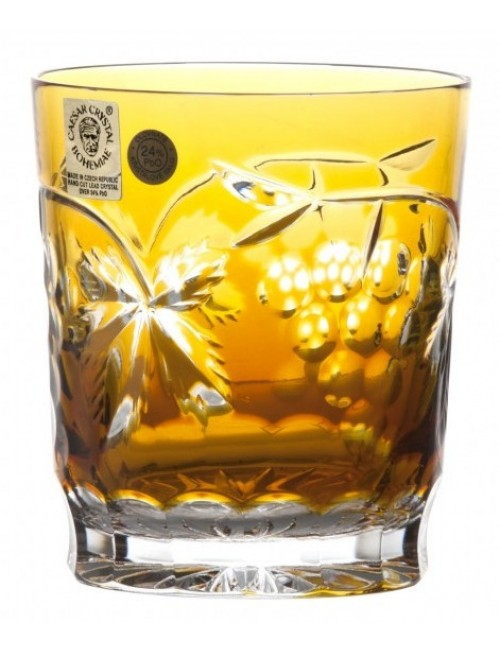 Crystal Glass Grapes, color amber, volume 290 ml