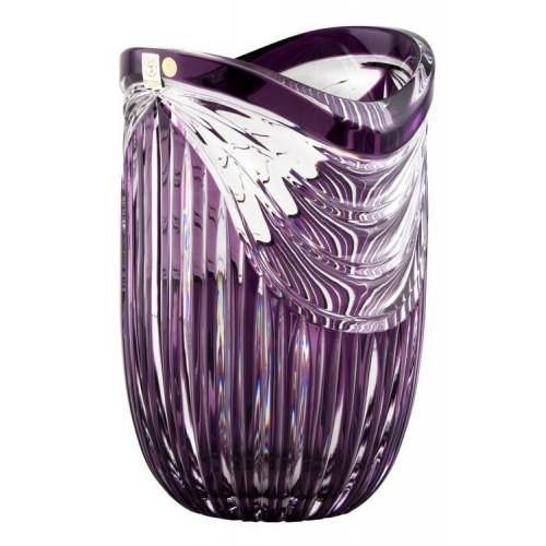 Crystal Vase Harp, color violet, height 250 mm