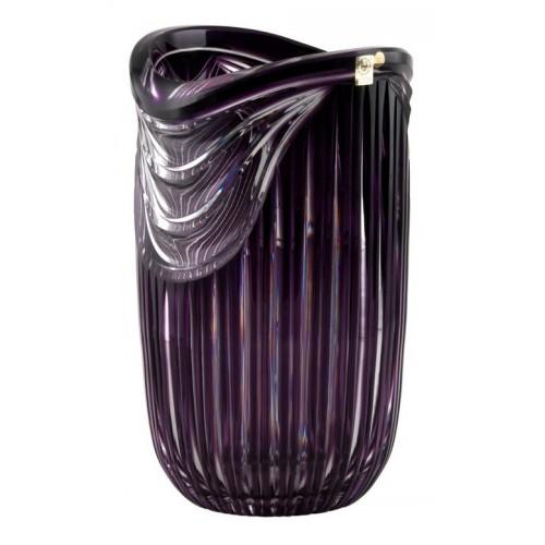 Crystal Vase Harp, color violet, height 300 mm