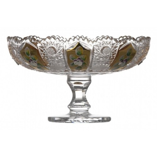 Crystal Footed Bowl 500K gold, color clear crystal, diameter 180 mm