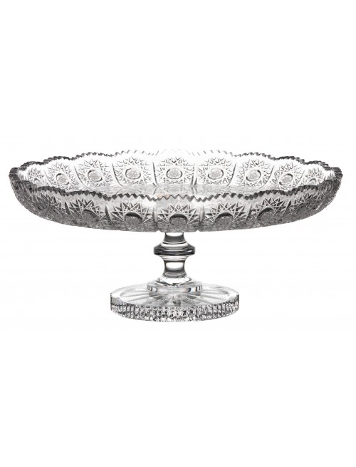 Crystal footed bowl 500PK, color clear crystal, diameter 280 mm