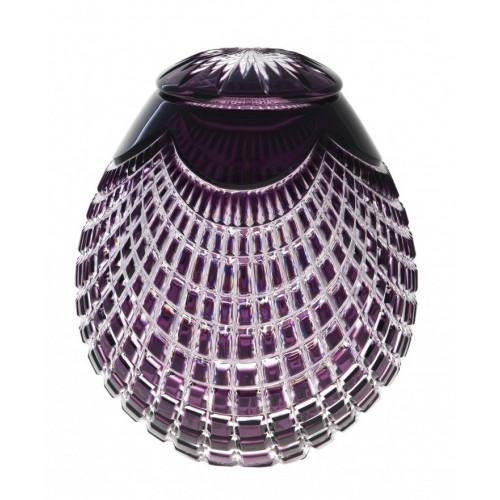 Crystal Urn Quadrus, color violet, height 230 mm