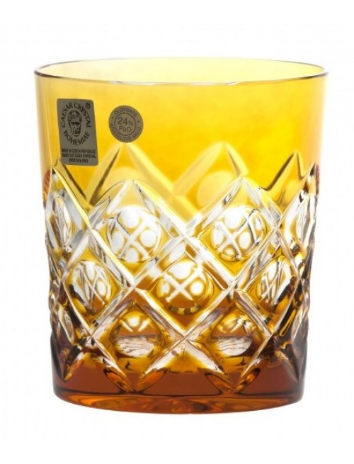 Crystal Glass Sultan, color amber, volume 290 ml