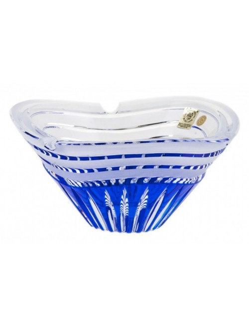 Crystal Ashtray Dune, color blue, diameter 180 mm