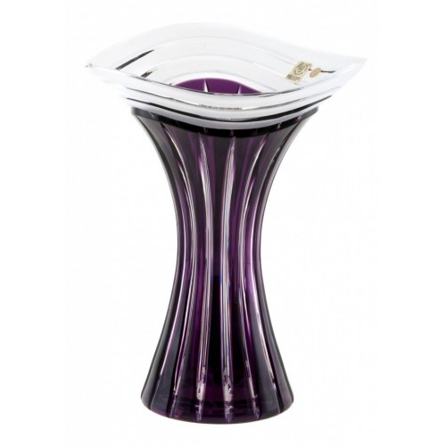 Crystal Vase Dune, color violet, height 250 mm