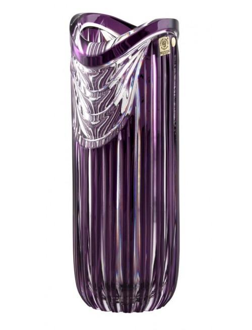 Crystal Vase Harp, color violet, height 320 mm