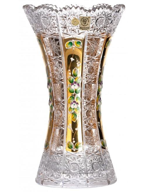 Crystal Vase 500K gold, color clear crystal, height 305 mm