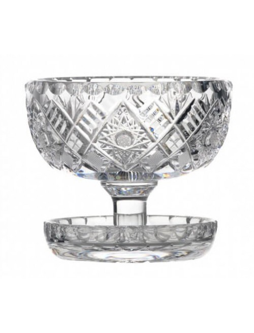 Crystal Bowl, color clear crystal, diameter 112 mm